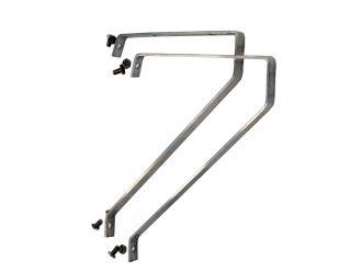 Set van 2 aluminium plankendragers