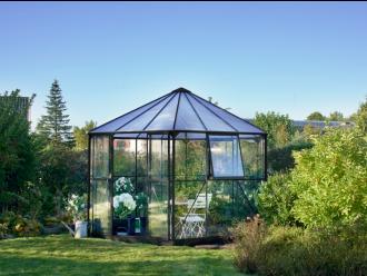 Prieel Atrium 90, zwart gecoat - Ø375 cm 182/287 cm (h)